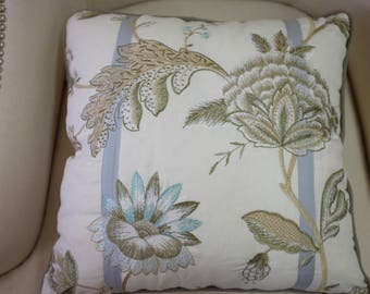 """Cowtan & Tout Embroidered decorative pillow cover 18.5"""" x 18.5"""" (2 available)"""