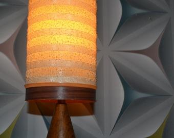 Vintage Danish design table lamp 70s teak