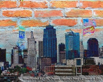 Kansas City Art Skyline, Kansas City Royals, Kansas City Chiefs, Royals Crown, Chiefs Sports, Kansas City Downtown, KC City Bricks