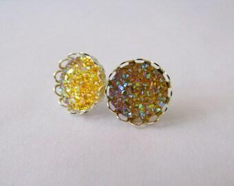 SALE* Princess Crown Earrings – Yellow Series