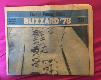 Blizzard of '78 | Boston Sunday Globe | 24 Page Special Edition | February 5, 1978 -|  Newspaper | New England Blizzard
