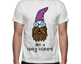 Yer a Hairy Wizard Tee Shirt Design, SVG, DXF, EPS Vector files for use with Cricut or Silhouette Vinyl Cutting Machines