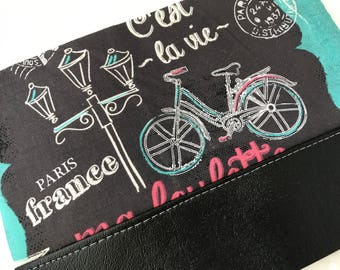 Chalkboard in Paris Clutch with Faux Leather