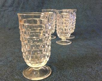 Vintage Colony Whitehall Footed Parfait Glasses, Set of 4