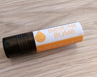 Immune Bomb Roller Blend- aromatherapy - essential oils - immunity - cold - flu - children - safe - natural