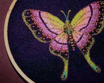 Butterfly Embroidery Hoop Art