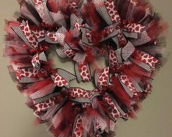 Valentines Heart Wreath