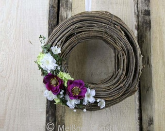 """White spring pink wreath"""