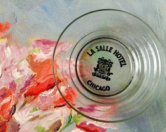 Vintage La Salle Hotel Chicago Advertising Ashtray; Vintage Hotelware; Vintage Chicago