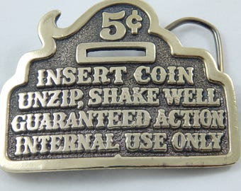 Vintage Brass Belt Buckle 1970's