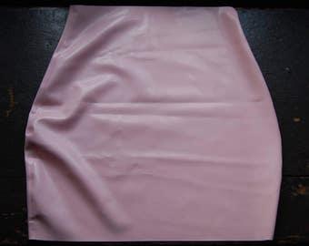 Baby Pink Latex Mini Skirt
