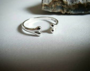 Mini 925 Sterling silver Bone Ring