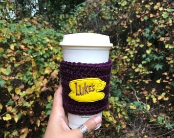 Gilmore Girls Luke's Diner Coffee Cozy- Luke's Diner Cup - Gilmore Girls Fan - Gilmore Girl Gift - Mug Cup Warmer- Luke's Coffee Cup Cozy
