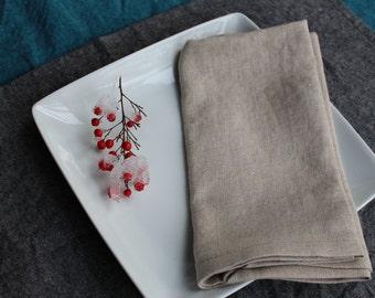 Napkins--Linen Napkins in Natural Color (set of 4)