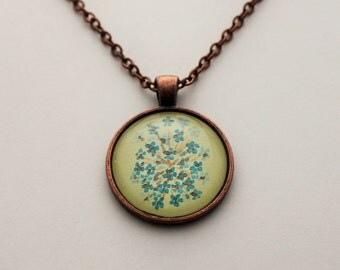 Hand drawn flower necklace
