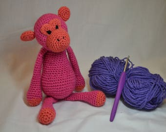Crochet monkey-Crochet chimpanzee-Crochet animal-Amigurumi-Amigurumi animal-Crochet toy-Amigurumi monkey