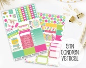 New Releases Summer Pop Planner Sticker Kit | Made to fit Erin Condren Vertical Life Planner 641L1-2