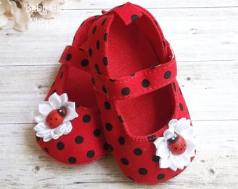 Ladybug Shoes - Ladybug First Birthday Outfit - Ladybug Birthday Shirt - First Birthday Ladybug Outfit - Ladybug Birthday Outfit