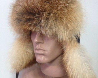 Men's hats  fox  fur and genuine leather