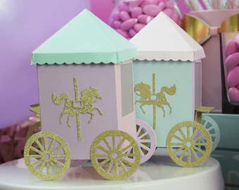 Carousel Party Favors, Carousel Horse Party Favor Boxes for Candy and Fun Treats for Parties