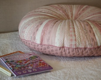 "31"" Jelly Roll Large Round Floor Pillow in 'Puttin' on the Ritz' by Bunny Hill Designs"