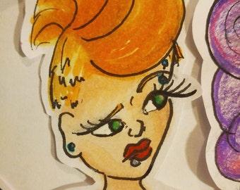 Punk Rocker Sticker
