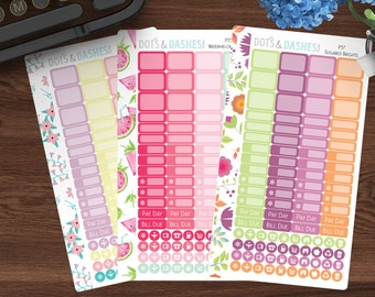 Personal Planner Sticker Sampler, spring stickers, summer stickers, itty bitty, teeny tiny stickers