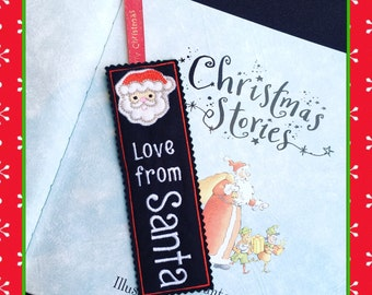 Personalised BOOKMARK Stocking Fillers Stuffers CUSTOMISED Christmas Eve box From Santa Father Christmas Gift for pupils