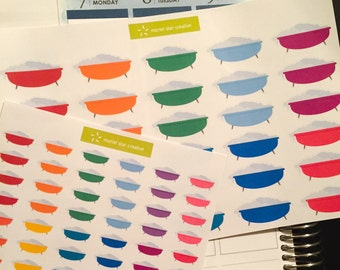 Bath tub stickers  |  Perfect for any planner