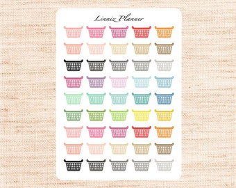 Laundry Basket Regular size (matte planner stickers, perfect for planners)