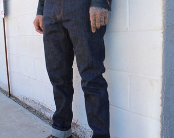 17oz cone mills indigo/brown classic thread