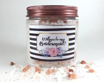Bridesmaid Proposal Detox bath soak| Ask Bridesmaid, Bridal Shower, Gift for her, Therapeutic Bath Salts, Soaking bath salts, Essential Oils