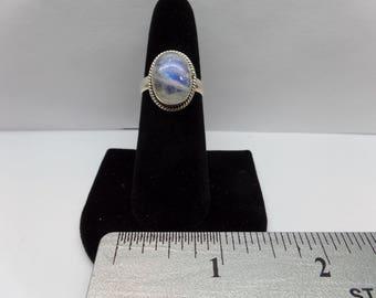Vintage sterling silver moonstone ring /FBS