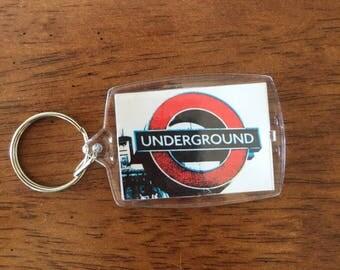 London Underground, tube, keychain, photo keychain, lanyard, keyring, london picture, london photo