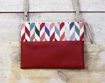 RED mini Pocket herringbone MALLY