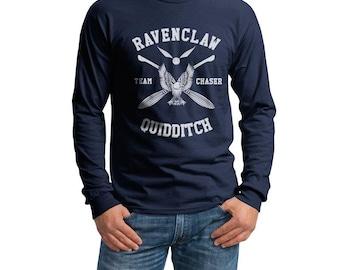 CHASER - Ravenc Quidditch team Chaser WHITE on Longsleeve MEN tee