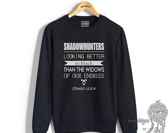 Looking beeter in black than the widows of our enemies Crew neck Sweatshirt SH Looking better in black