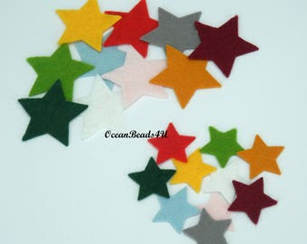 20 Felt Stars (color/size free choice)