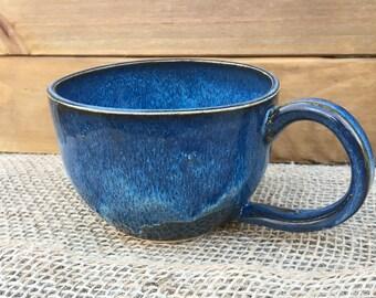 Midnight Blue Mug, Handmade Ceramic Coffee Mug, Stoneware Tea Cup