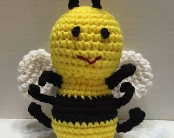 Crochet Bee, Crochet Bumble Bee, Bumble Bee Toy, Amigurumi Bee, Yellow Bee