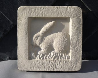 Concrete relief decorations - gift - rabbit / Bunny-