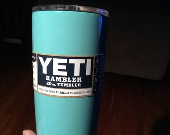Most popular color we have. 20oz Yeti in robins egg blue