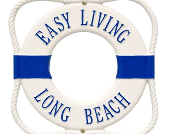 Life Ring Two Line Personalized Plaque