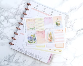 MATTE Classic HP Pastel Succulents Planner Sticker Kit (3 Sheets) - For Classic Happy Planners