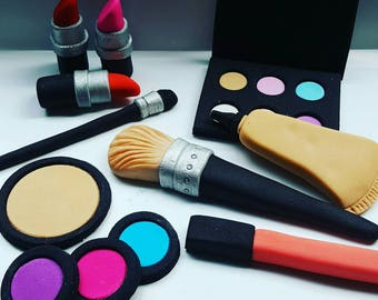Makeup fondant Cake Toppers
