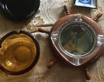 Assortment of vintage ashtrays ...memorabilia...travel mementos...ashtray collection