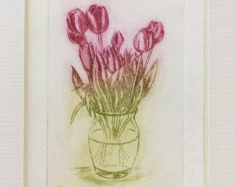 Tulip Print - Original Limited Edition Etching