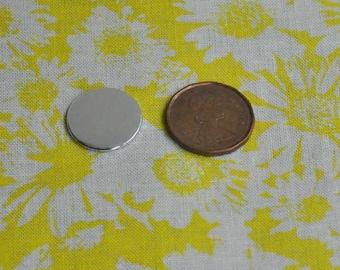 10 Polished 5/8'  Metal Stamping Disc Blanks 18g 1100 Food Safe Aluminum
