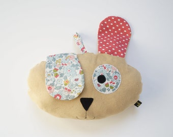 """""""See me, you can't see me"""" dog pillow, gift, baby, plush, room decoration, handmade, child birthday gift"""