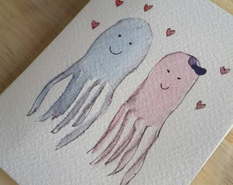Jelly fish Valentines card